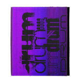 Drum; Vibrant Violet Blue and Magenta iPad Case