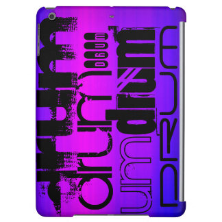 Drum; Vibrant Violet Blue and Magenta iPad Air Covers