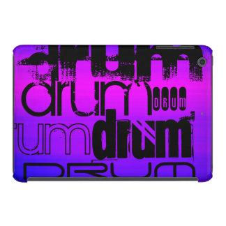 Drum; Vibrant Violet Blue and Magenta iPad Mini Retina Case