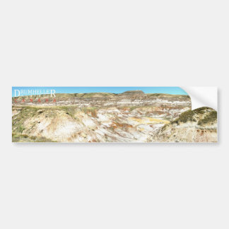 Drumheller Alberta Canada Landscape Sticker Bumper Sticker