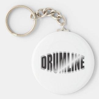 Drumline Black Chrome Basic Round Button Key Ring