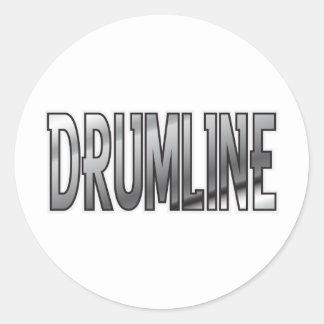 Drumline Chrome Classic Round Sticker
