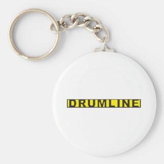 Drumline Crime Scene Tape Basic Round Button Key Ring