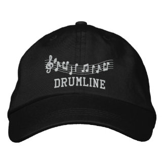 Drumline Embroidered Music Hat Embroidered Cap