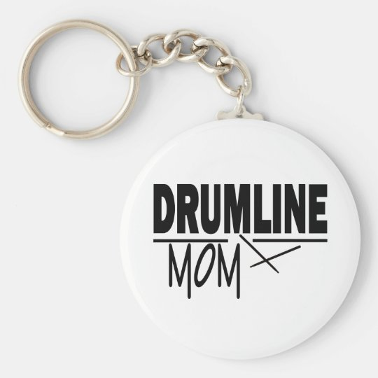 Drumline Mum Basic Round Button Key Ring