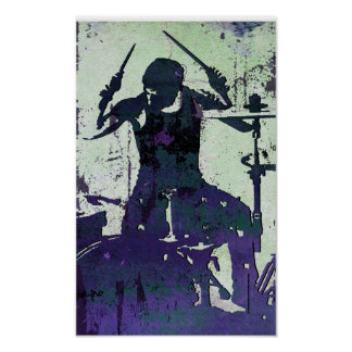 Drummer 5, Copyright Karen J Williams Poster