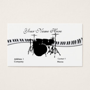 For drummer business cards business card printing zazzle uk drummer and keyboard business card colourmoves Image collections