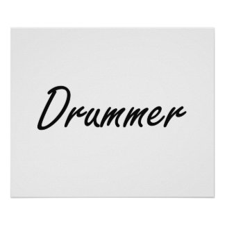 Drummer Artistic Job Design Poster