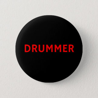 Drummer - Band / Music Button Pin Badge