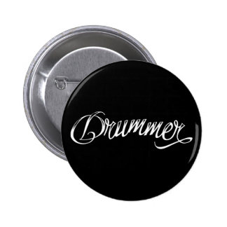 Drummer Black 6 Cm Round Badge