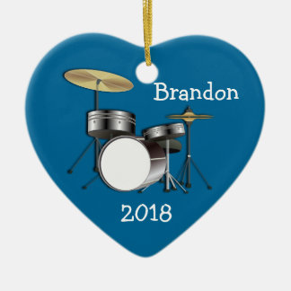 Drummer Boys Personalized Christmas Photo Ornament