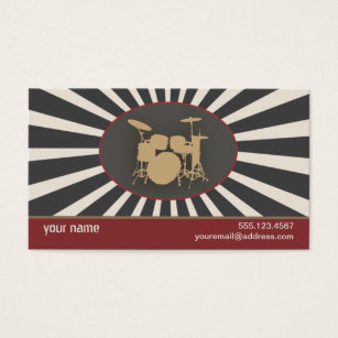 Drummer business cards business card printing zazzle uk drummer business card colourmoves Image collections