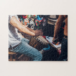 Drummer by Masks Jigsaw Puzzle