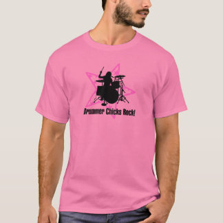 Drummer Chicks Rock T-Shirt