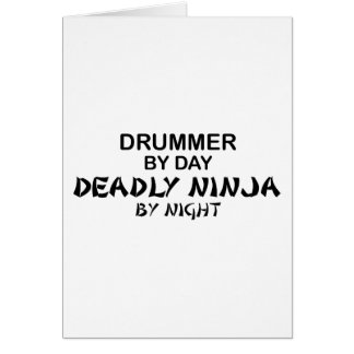 Drummer Deadly Ninja by Night Card