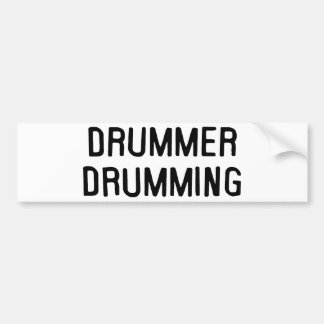 Drummer Drumming Bumper Sticker