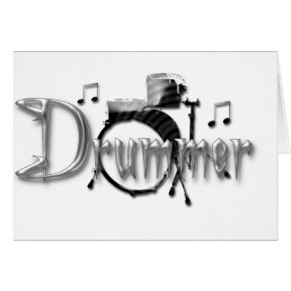 Drummer Drums Card
