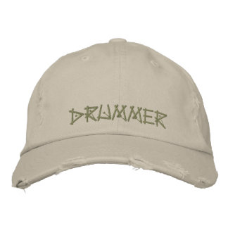 DRUMMER EMBROIDERED BASEBALL CAP