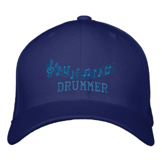 Drummer Embroidered Music Hat
