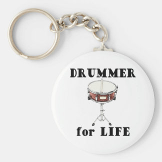 Drummer for Life Basic Round Button Key Ring