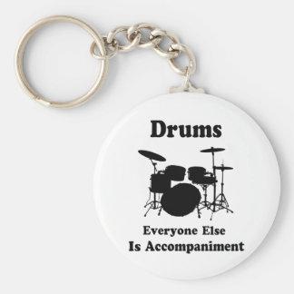 Drummer Gift Key Ring