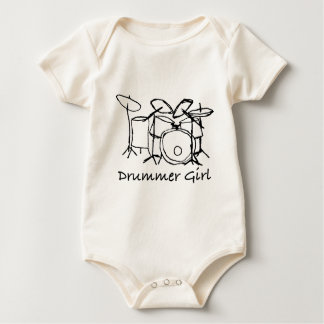 Drummer Girl Baby Bodysuit