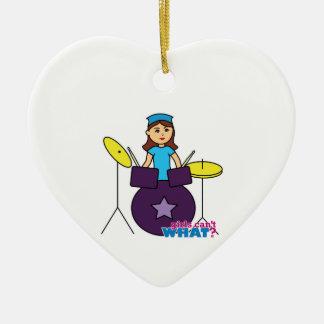 Drummer Girl Christmas Ornament