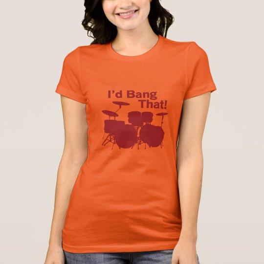 Drummer Girl Humour T-Shirt