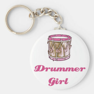 Drummer Girl Key Ring