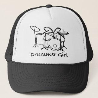 Drummer Girl Trucker Hat
