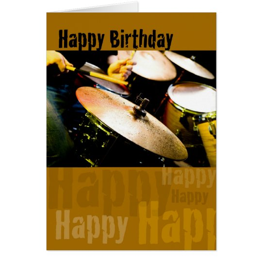 Drummer, Happy Birthday Card