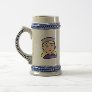Drummer Head Light/Blonde Beer Stein