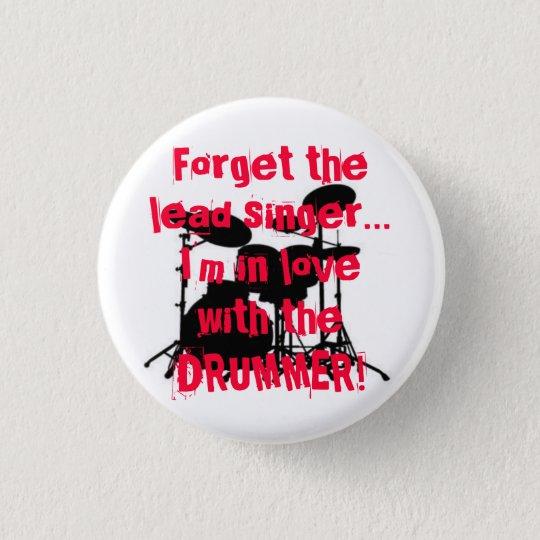 drummer love 3 cm round badge