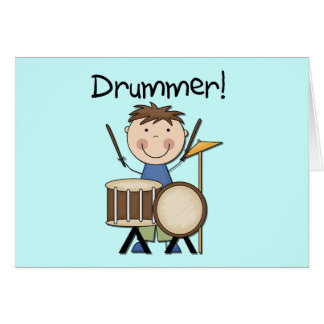 Drummer - Male Tshirts and Gifts Card