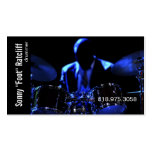 Drummer Musician for Music Business Card