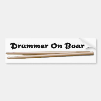 Drummer On Board 01 Bumper Sticker