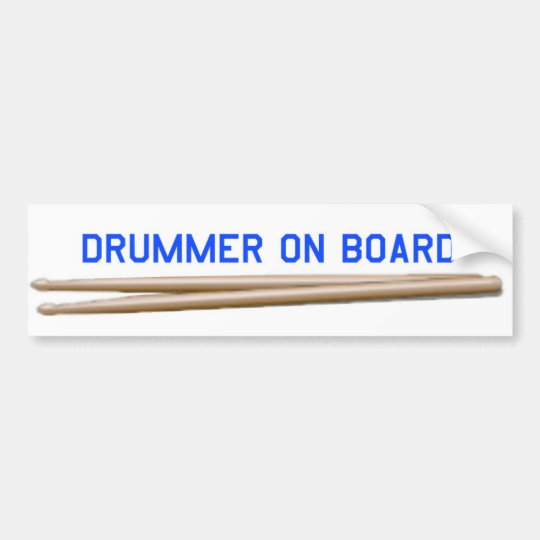 Drummer On Board 04 Bumper Sticker