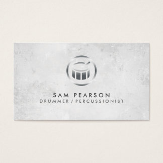 Drummer Percussionist Drum Icon Business Card