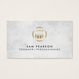 Drummer Percussionist Drums Icon Business Card