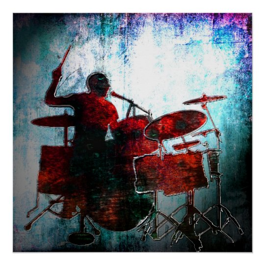 Drummer Pop of colour, Copyright Karen J Williams