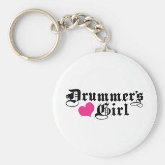 Drummer s Girl Key Chain