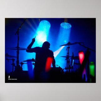 Drummer Silohuette Poster