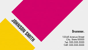 Drummer business cards business card printing zazzle uk drummer simple pink yellow business card colourmoves