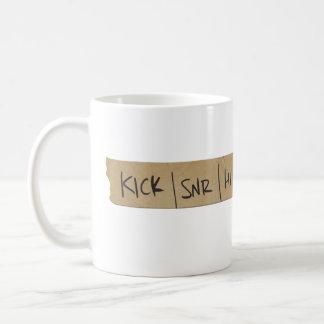 Drummer Sound Board Tape Basic White Mug