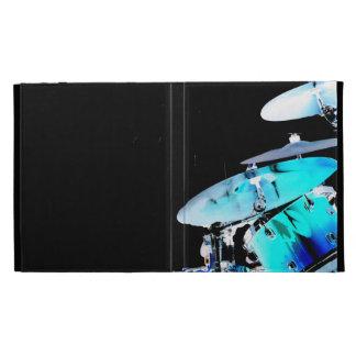Drummer sticks in air shadow blue invert drums iPad folio covers
