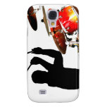 Drummer sticks in air shadow real drums galaxy s4 cover