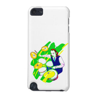 Drummer Wearing Vest Yellow Cymbals Graphic iPod Touch (5th Generation) Case