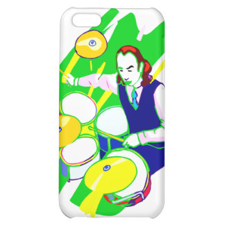 Drummer Wearing Vest Yellow Cymbals Graphic Cover For iPhone 5C
