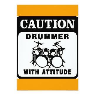 Drummer with Attitude Invitations