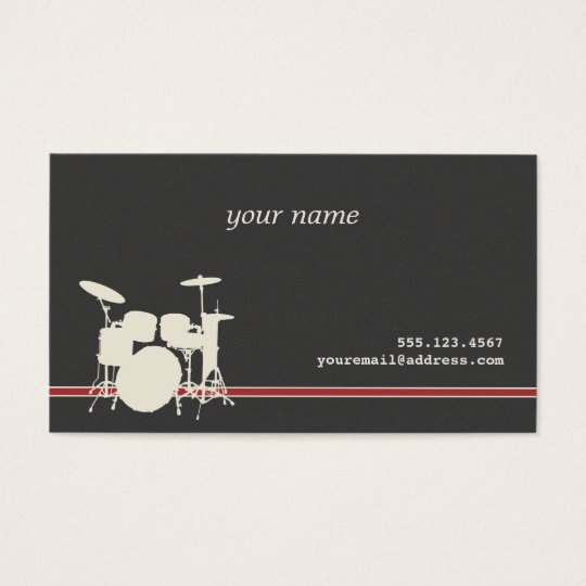 Drummer's Business Card
